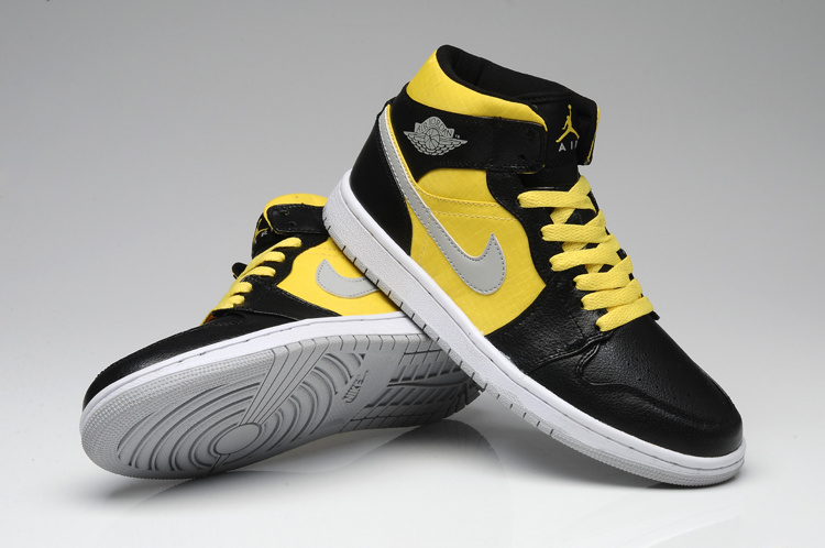 2013 Jordan 1 Retro Black Yellow White