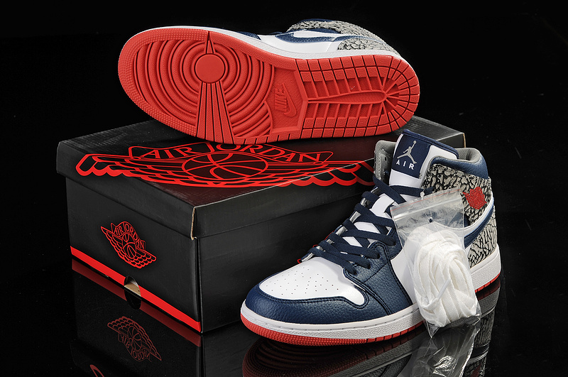 2013 Jordan 1 Retro Blue White Grey
