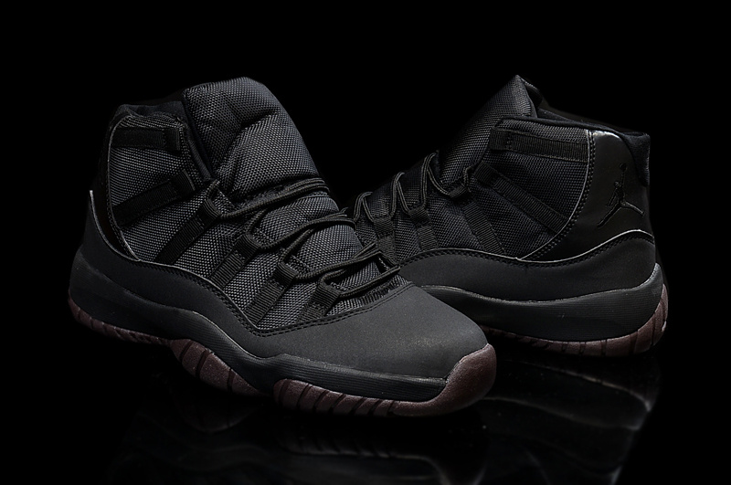 2015 Jordan 11 High All Black Coffe Shoes