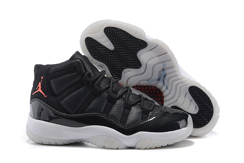 2015 Jordan 11 High Black White Shoes