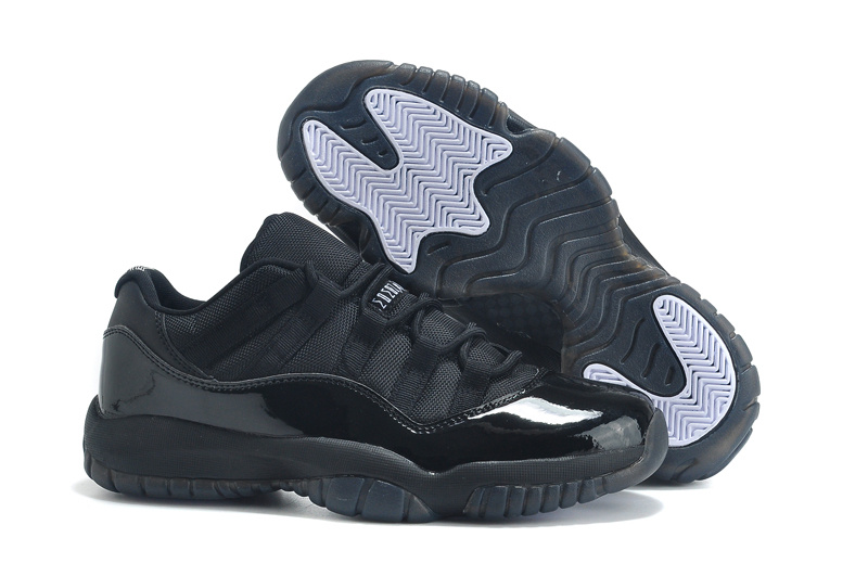 Cheap 2015 Air Jordan 11 Low Cut All Black Lovers Shoes