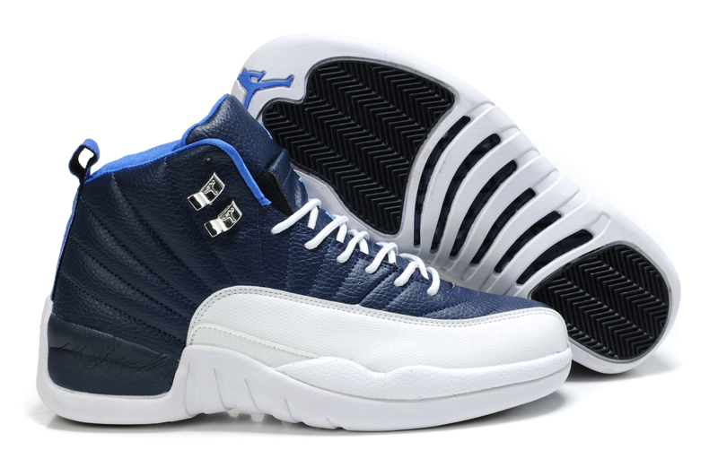 Authentic Air Jordan Retro 12 Blue White