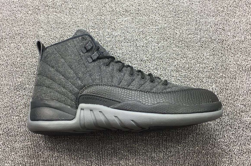 New Air Jordan 12 Wool Dark Grey Metallic Silver Black
