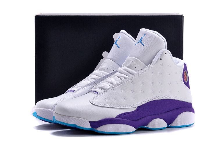 new arrival 01544 068ff New Air Jordan Retro 13 White Purple Shoes [REALAJS729 ...