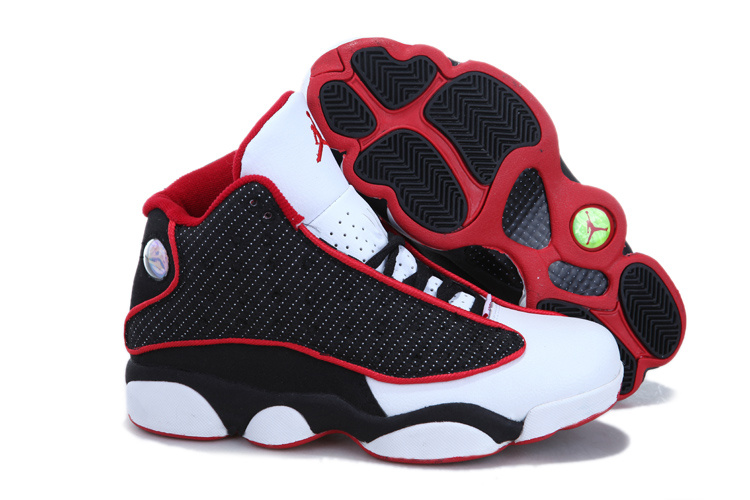 Cheap Jordan 13 White Black Red For Women