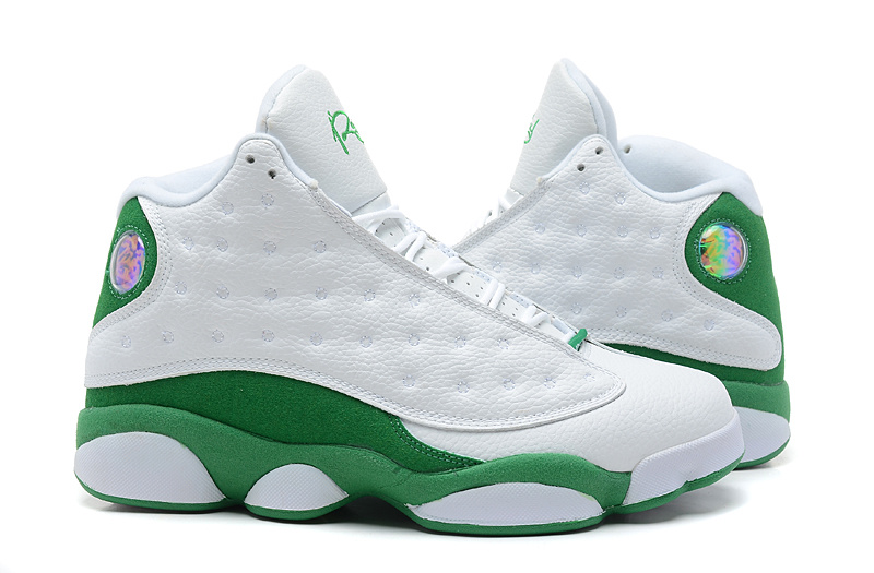 new product 81d41 42e54 New Air Jordan 13 White Green Shoes