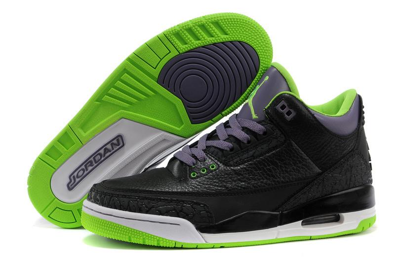 low priced 9ff70 35e8b Cheap 2015 Air Jordan 3 Retro Black Purple Green Shoes