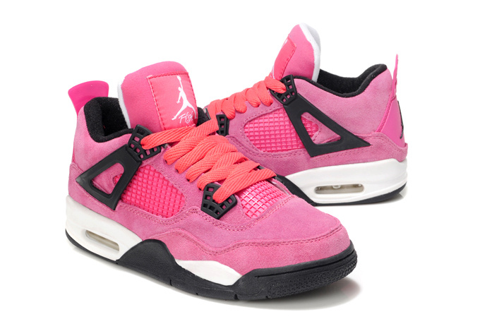 Cheap Jordan 4 Pink White For Women