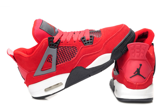Cheap Jordan 4 Red White For Women