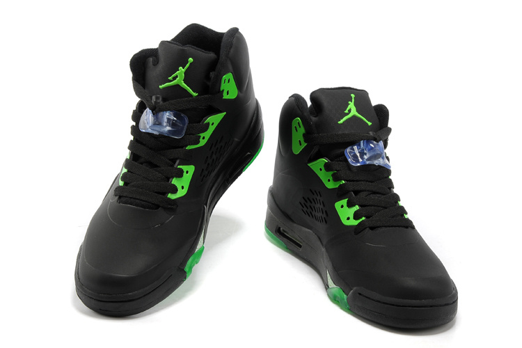 Authentic Jordan Retro 5 Black Green White