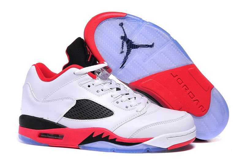newest 3e770 8b0a4 New Air Jordan 5 Low Fire Red Black Tongue Shoes