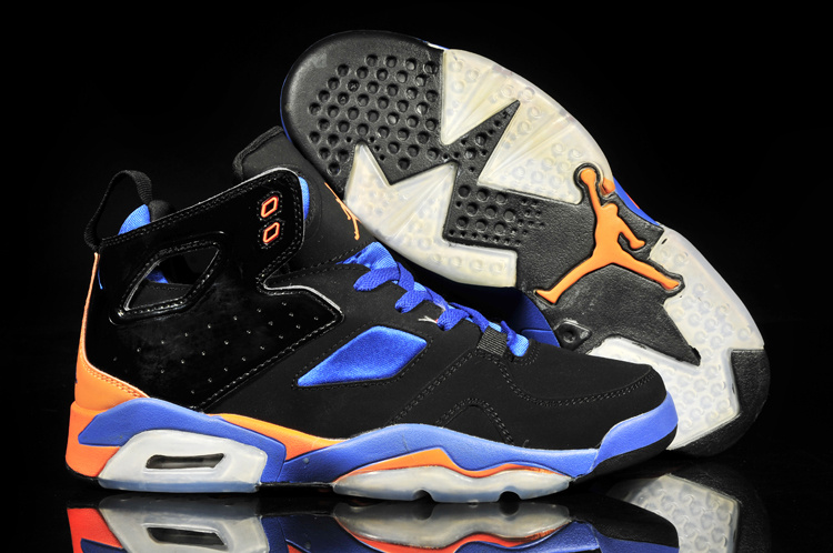 huge discount 2abb1 7cb61 New Air Jordan 6 Black Blue Orange White Shoes