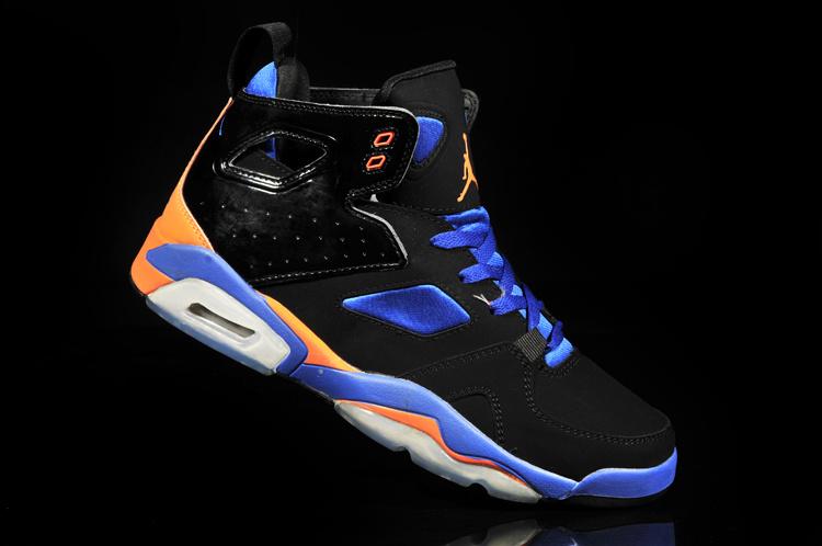 huge discount 010e0 7531a New Air Jordan 6 Black Blue Orange White Shoes
