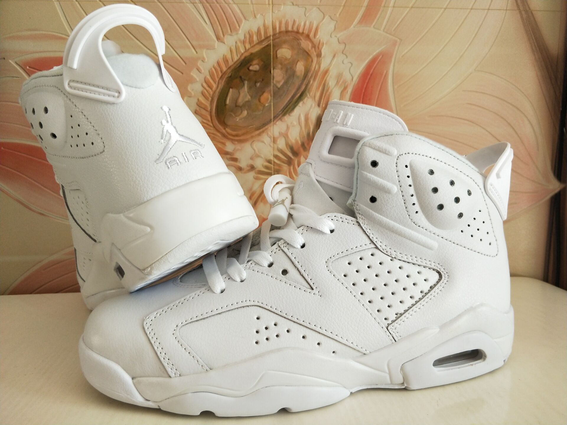 New Air Jordan 6 Retro All White Shoes
