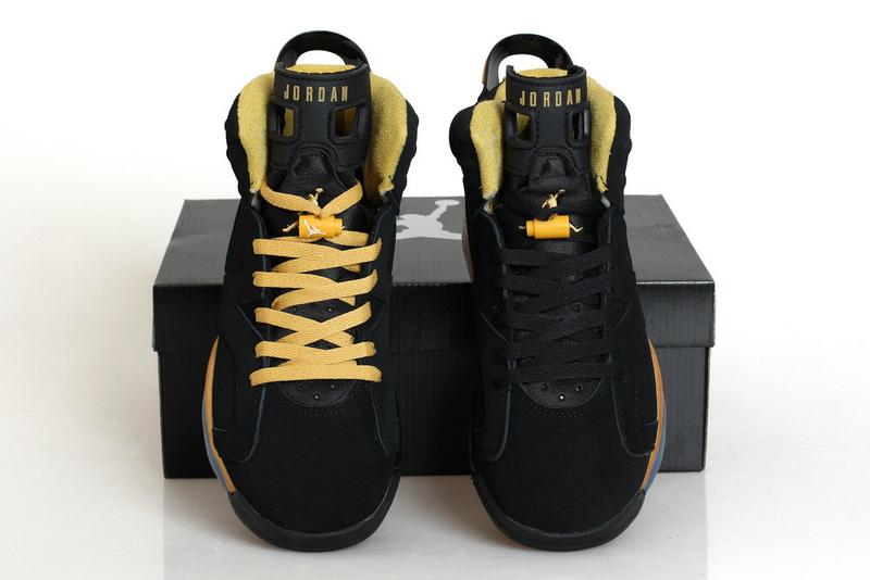 factory authentic 4b26a fe78d New Air Jordan Retro 6 Black Gold Shoes [REALAJS257 ...
