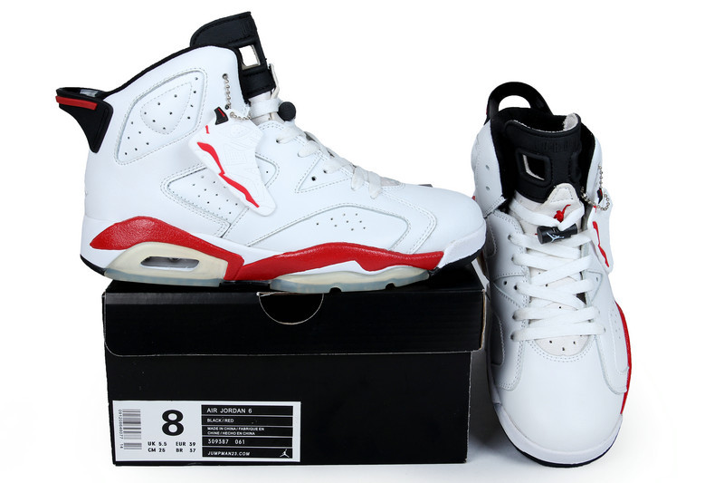 2013 Jordan 6 Retro White Red