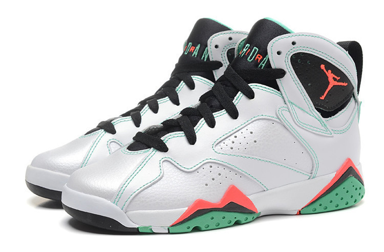 Cheap 2015 Air Jordan 7 Painted Eggshell White Black Red Pink Lover Shoes