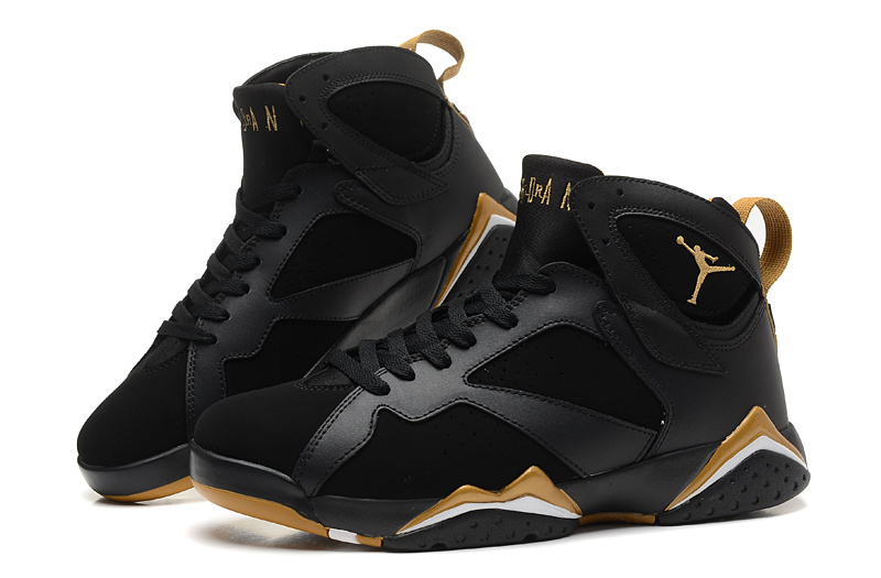 3b41933a59dc New Air Jordan Retro 7 Black Gold Shoes  REALAJS357  -  80.00 ...