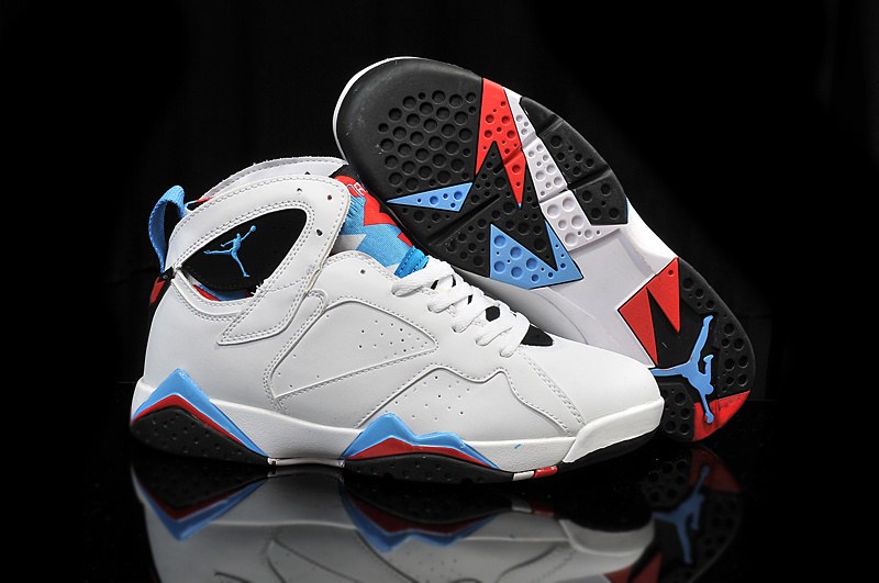 newest 04e7e 2339a Cheap 2015 Air Jordan 7 Retro OG White Blue Black Red Shoes