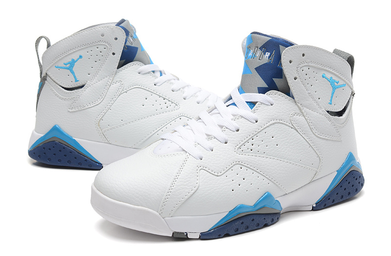 competitive price fc13f 464c6 New Air Jordan Retro 7 White Baby Blue Shoes