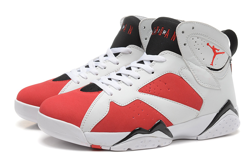the best attitude 2f6b7 ee9d5 New Air Jordan Retro 7 White Red Black Shoes [REALAJS368 ...