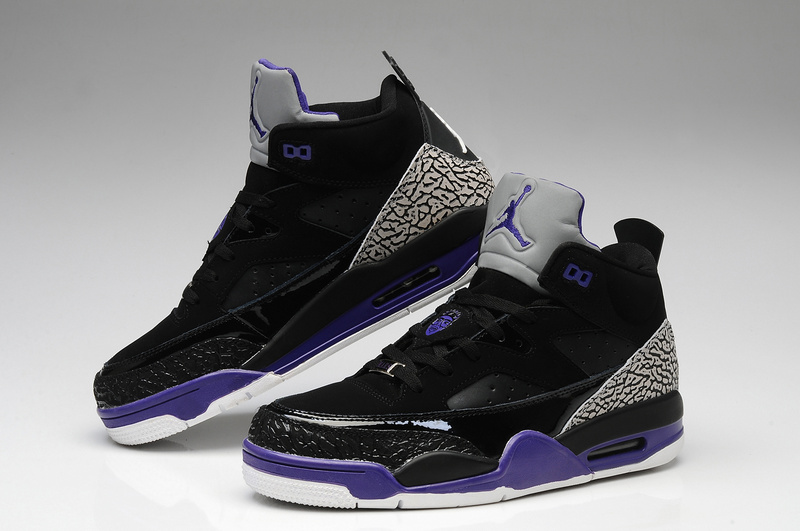 New Air Jordan Spizike Black Grey Purple White Shoes