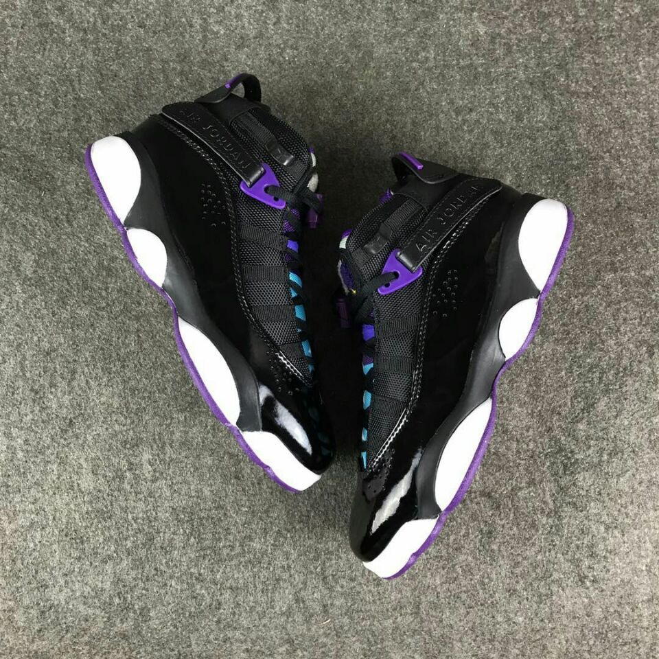 New Air Jordan VI Rings Black Purple For Women