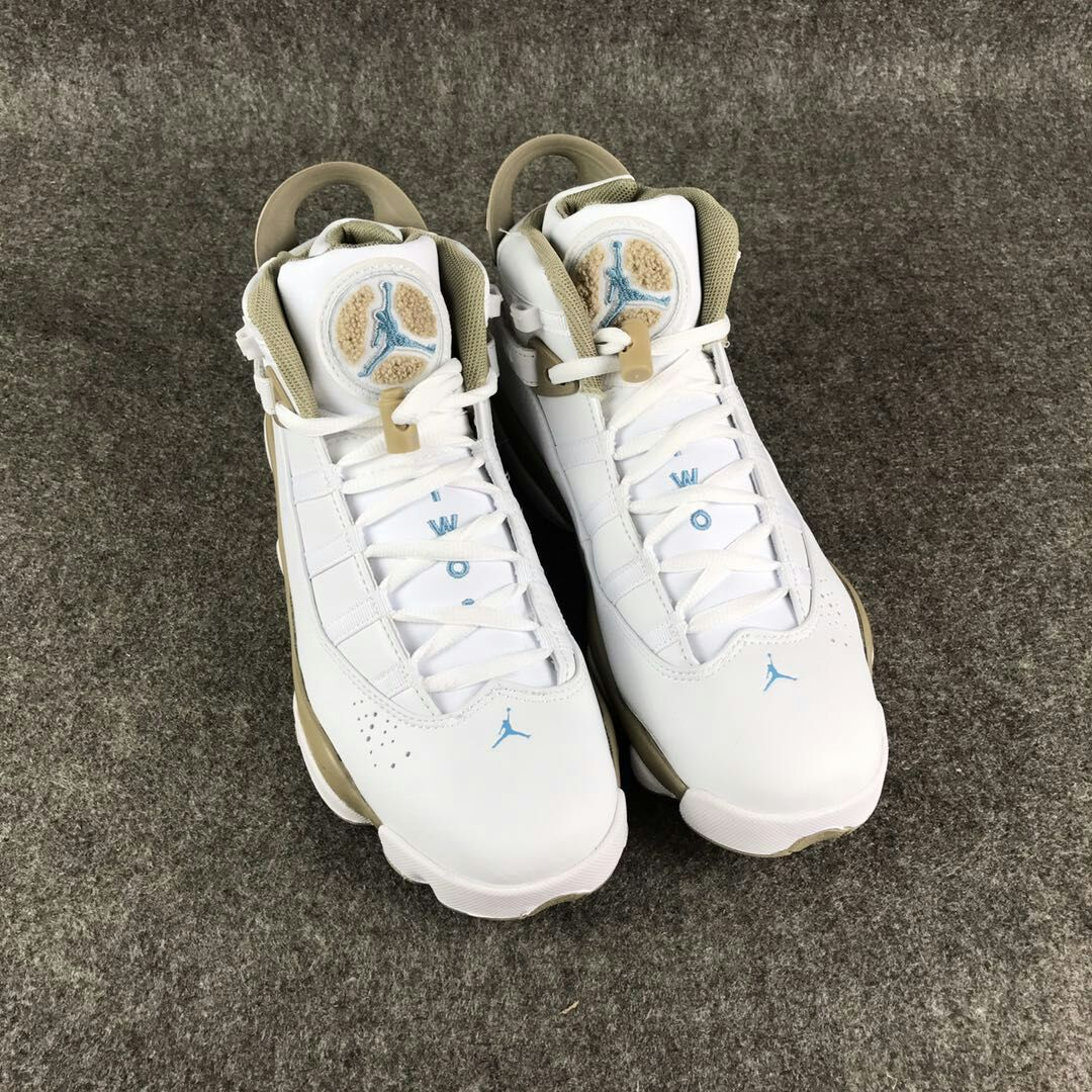 New Air Jordan VI Rings White Gold For Women