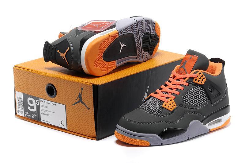 new arrivals 70d72 a94e1 New Air Jordan Retro 4 Grey Orange