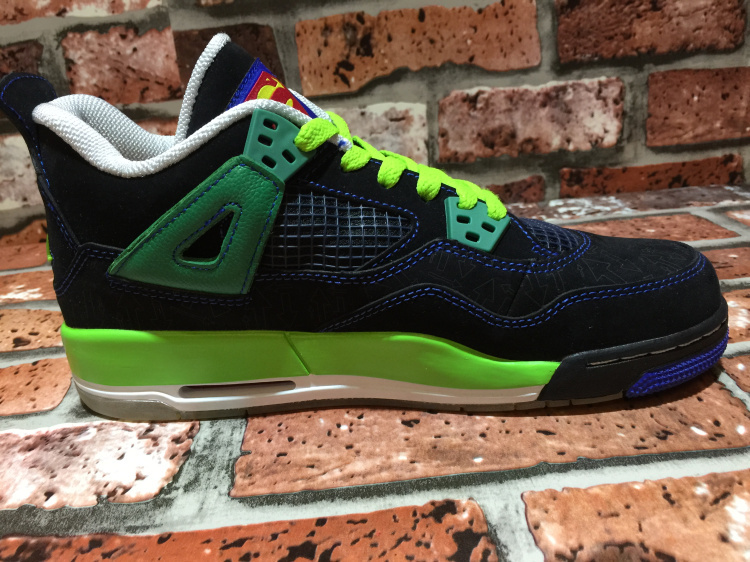 2015 Jordan 4 OG Super Black Green For Women