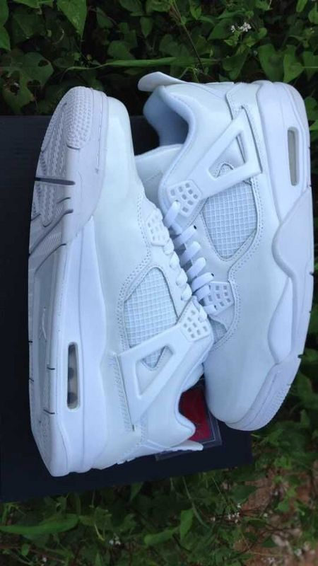 Cheap 2015 Air Jordan 4 Retro All White Shoes