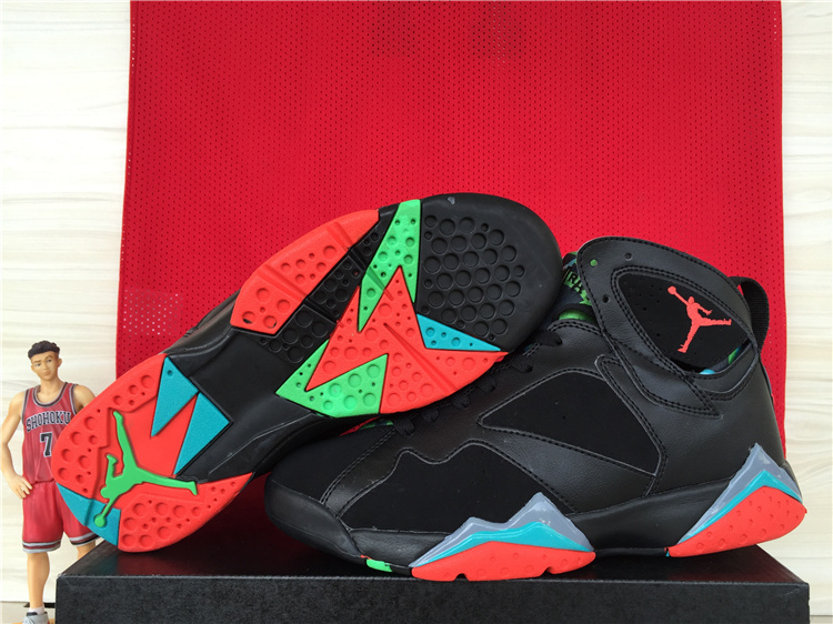 Cheap 2015 Air Jordan 7 Retro Black Red Blue