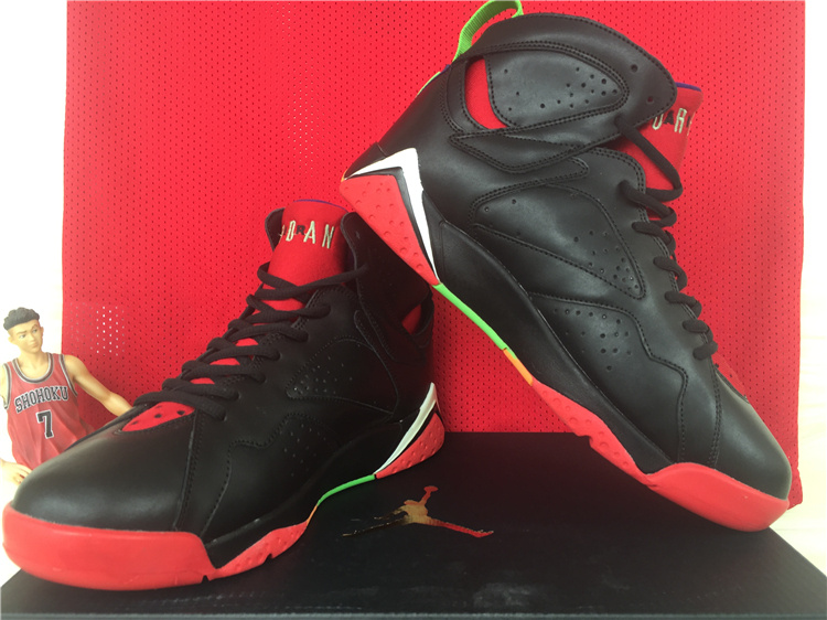 Cheap 2015 Air Jordan 7 Retro Black Red Green