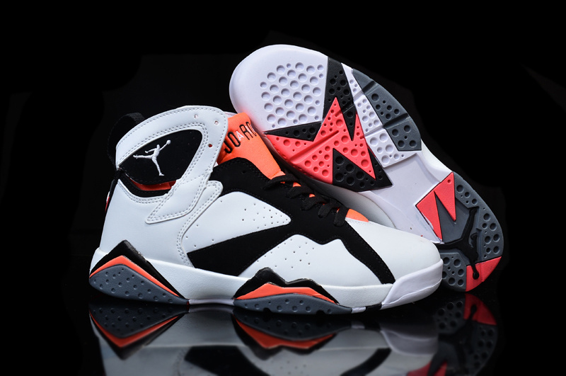 a53a2a1927c1 Cheap Real 2015 Air Jordan 7 White Black Pink Shoes For Women