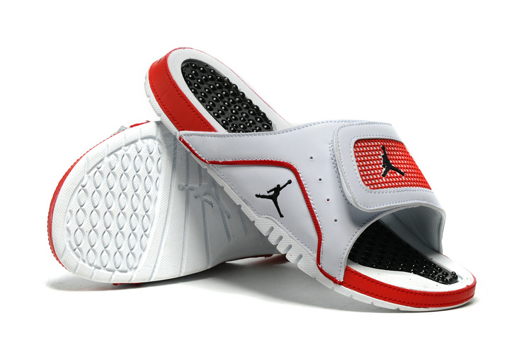 New Jordan Hydro 4 Slide Sandals White Red Black