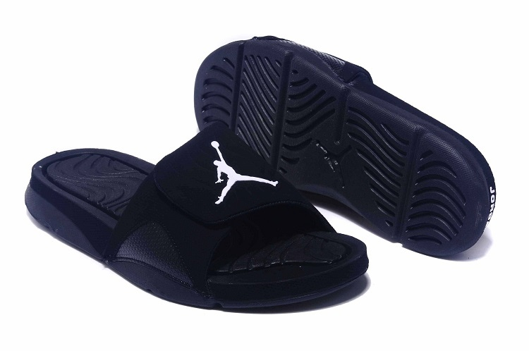 New Jordan Hydro IV Retro All Black Sandals