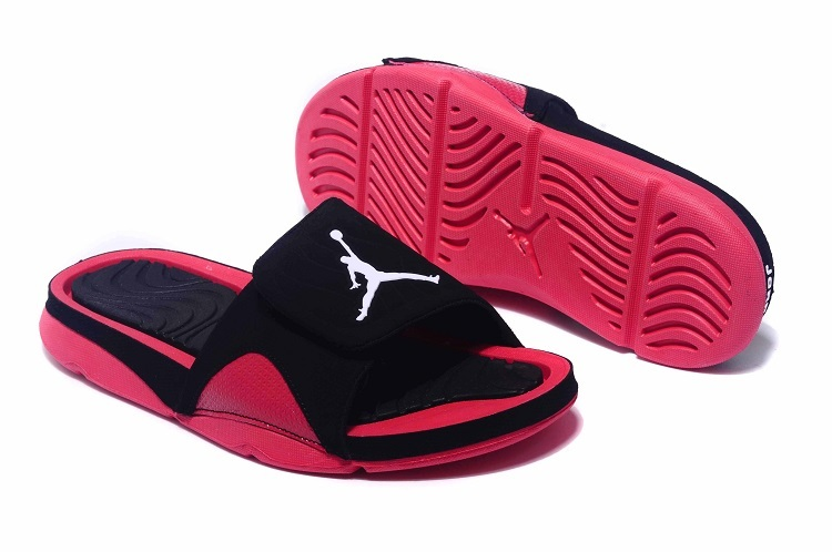 New Jordan Hydro IV Retro Black Red Sandals
