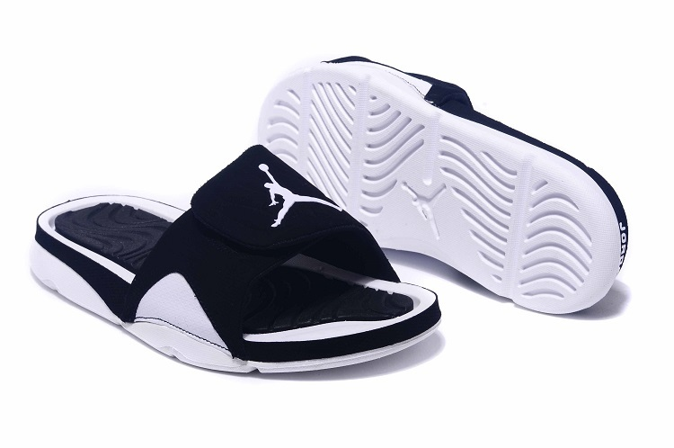 New Jordan Hydro IV Retro Black White Sandals