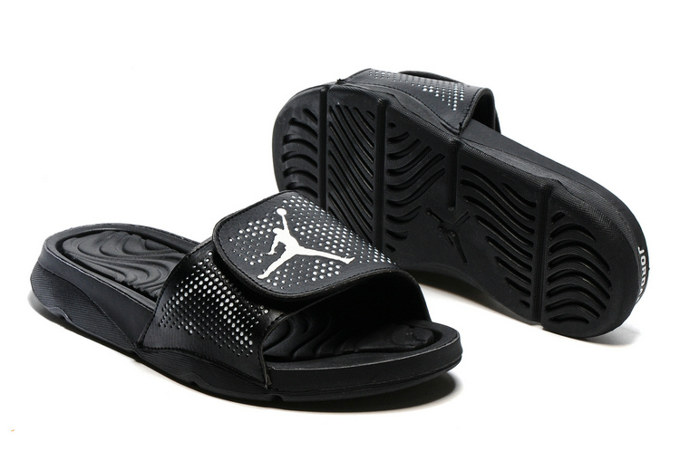 New Jordan Hydro V Retro All Black Sandals