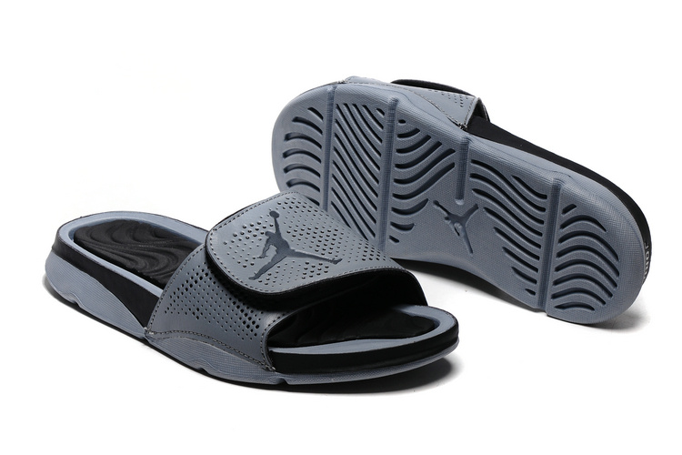 New Jordan Hydro V Retro Black Grey Sandals