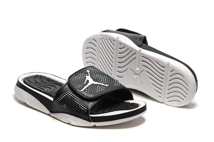 New Jordan Hydro V Retro Black White Sandals