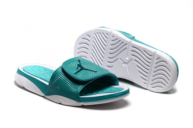 New Jordan Hydro V Retro Mint Green White Sandals