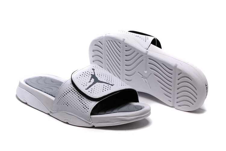 New Jordan Hydro V Retro White Silver Sandals