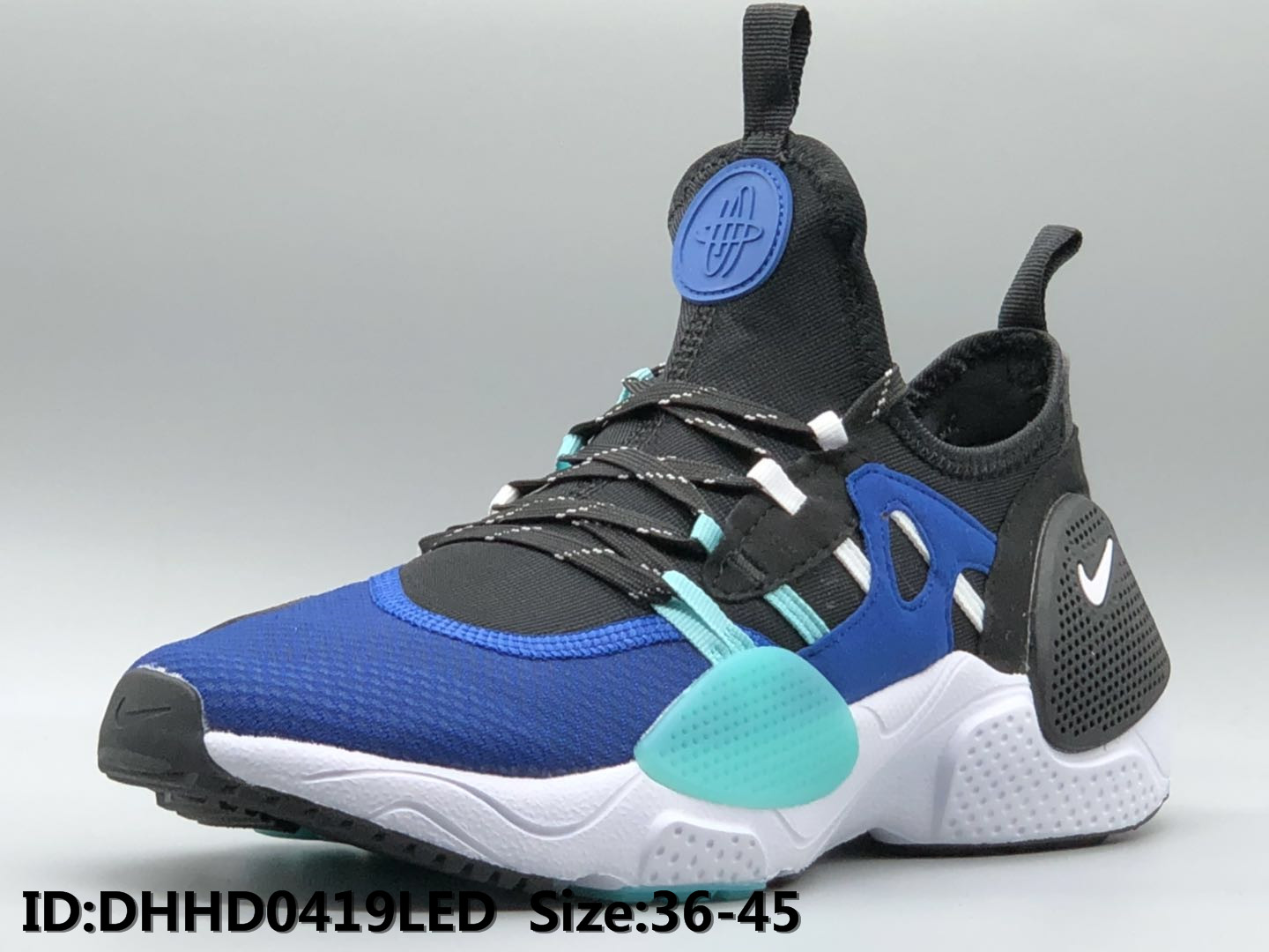 2019 Nike Air Huarache 7 Black Blue White