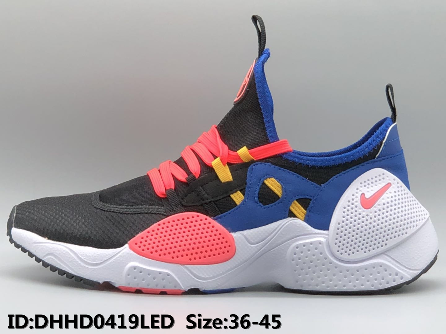 2019 Nike Air Huarache 7 Black Red Blue White