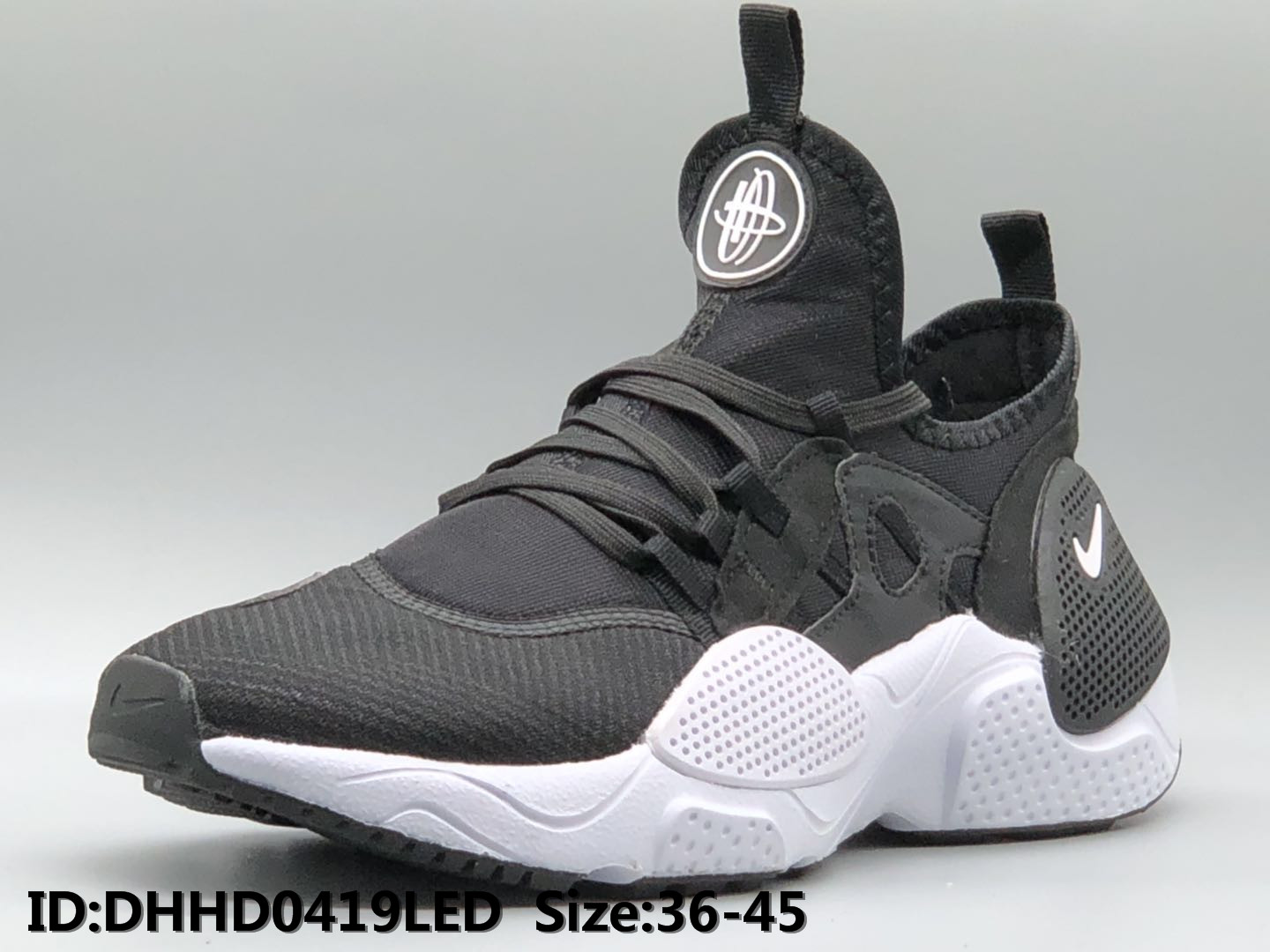 2019 Nike Air Huarache 7 Black White