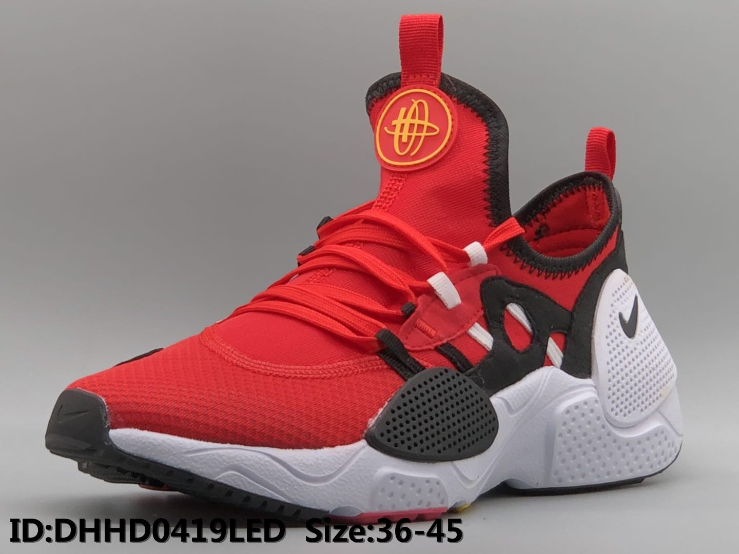 Nike Air Huarache 7 Reddish Orange Black White Shoes