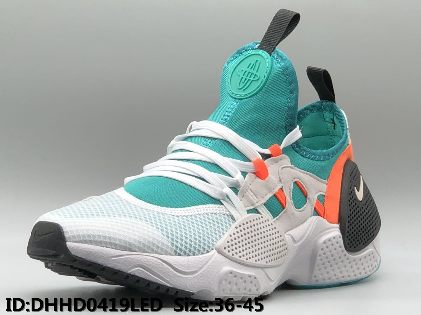 Nike Air Huarache 7 White Green Black Orange Shoes