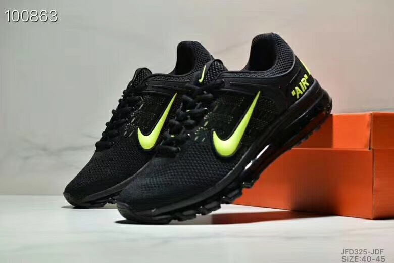 Nike Air Max 360 Flyknit Black Green Shoes