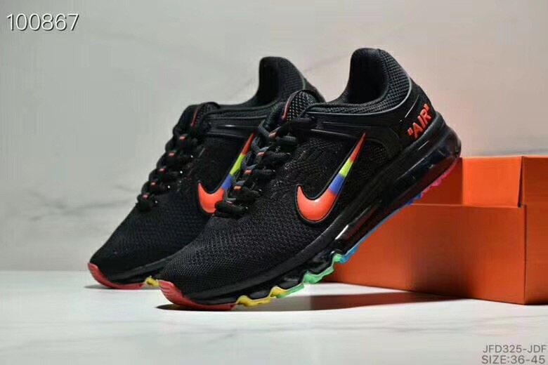 Nike Air Max 360 Flyknit Black Rainbow Shoes